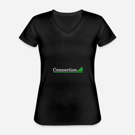 Wide T-Shirts - Internet - Classic Women's V-Neck T-Shirt black