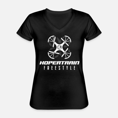 Pilot Hopertrain Freestyle drone - Classic Women's V-Neck T-Shirt