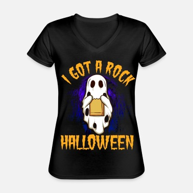 I have a rock Halloween 2 - Classic Women's V-Neck T-Shirt