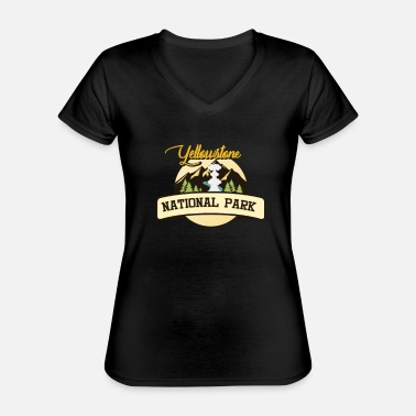 National Yellowstone National Park - Classic Women's V-Neck T-Shirt