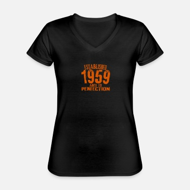 Birth Year 1959 birth year birthday gift - Classic Women's V-Neck T-Shirt