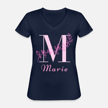 Womens Name Marie women's name rare girl's name name with M - Classic Women's V-Neck T-Shirt