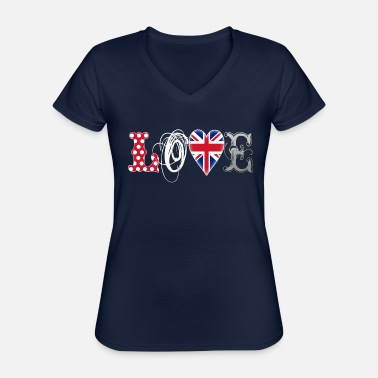 Jack Love UK White - Classic Women's V-Neck T-Shirt