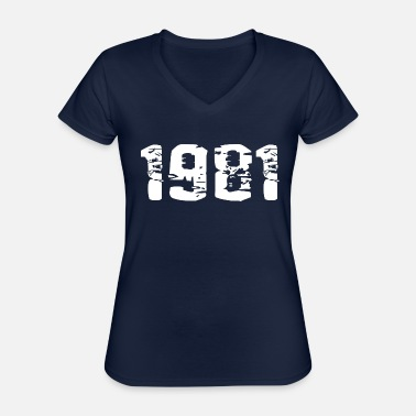 Year Of Birth Year of birth - Classic Women's V-Neck T-Shirt