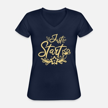 Start to start - Classic Women's V-Neck T-Shirt