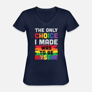 Coming Out LGBTQ homo | Coming Out Pride Maand Cadeau Idee - Klassiek vrouwen T-shirt met V-hals