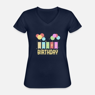 Birthday Kid Happy Birthday Kids Birthday - Classic Women's V-Neck T-Shirt
