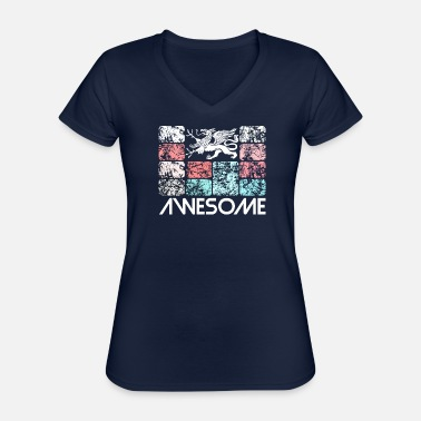 Awesome Rostock - Classic Women's V-Neck T-Shirt