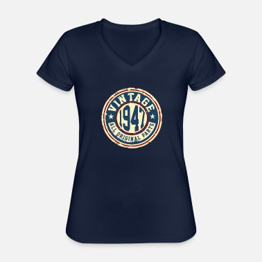 Original Vintage 1947 - Classic Women's V-Neck T-Shirt