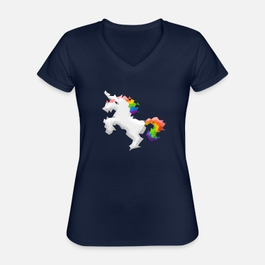 Funny unicorn design - Classic Women's V-Neck T-Shirt