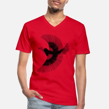 Birdman Bird flying - Men's V-Neck T-Shirt
