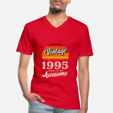 Group Vintage 1995 birthday retro vintage gift - Men's V-Neck T-Shirt