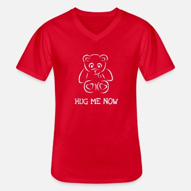 HUG ME BEAR - Men's V-Neck T-Shirt
