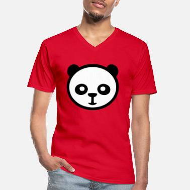 Panda, Giant Panda, Giant Panda, Bamboo Bear - Men's V-Neck T-Shirt
