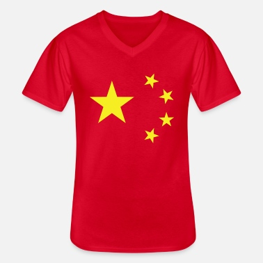 China Flag Women's T-Shirt - Men's V-Neck T-Shirt