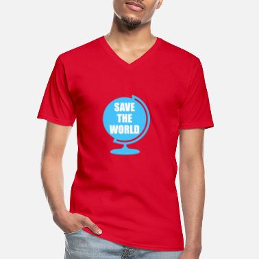 Save The World Save The World - Men's V-Neck T-Shirt