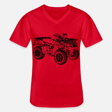 Offroad Vehicles ATV Quad offroad off-road vehicle black - Men's V-Neck T-Shirt