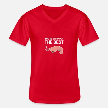 Eekhoorn Dear Shrimply The Best Seafood Lover Ge - Klassiek mannen T-shirt met V-hals