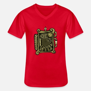 Clockwork Steampunk Clockworks - Men's V-Neck T-Shirt