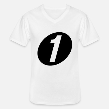 Number One number one - Men's V-Neck T-Shirt