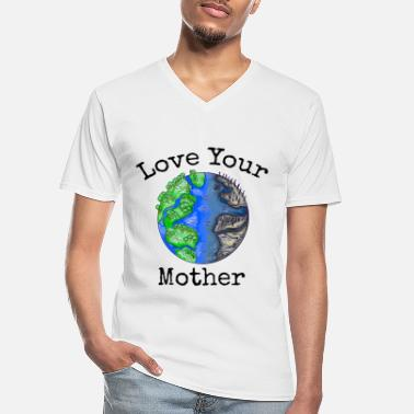 Red Planet Maak elke dag Earth Day Save The Planet Environment - Klassiek mannen T-shirt met V-hals