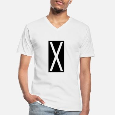 Castor Transport Rectangle X - Men's V-Neck T-Shirt