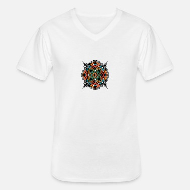 Indian mandala - Men's V-Neck T-Shirt