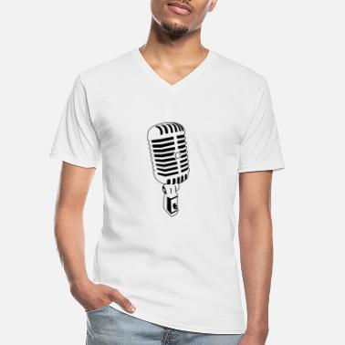 Condensation Vintage Microphone - Men's V-Neck T-Shirt
