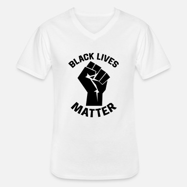 Black Lives Matter Anti Racism Black People Matter - Klassisk herre T-shirt med V-udskæring