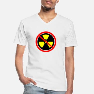 Castor Transport Anti nuclear power Nuclear power stations Nuclear energy Atomic energy - Men's V-Neck T-Shirt