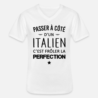Italie Perfection / Italien - T-shirt col V Homme