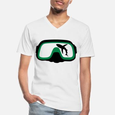 Diving Mask diving Mask - Men's V-Neck T-Shirt