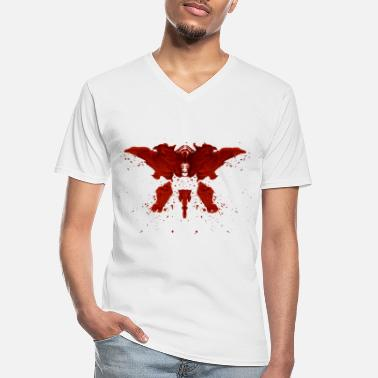 Splatter Rorschach - Men's V-Neck T-Shirt