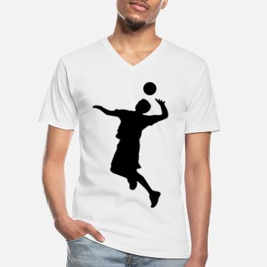 Volley Volley Sillhouette - Men's V-Neck T-Shirt