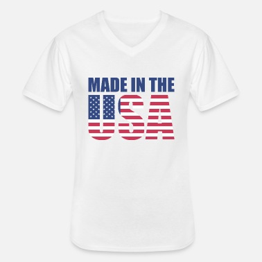 Stars And Stripes USA America Flag Stars and Stripes Made in USA - Klassiek mannen T-shirt met V-hals