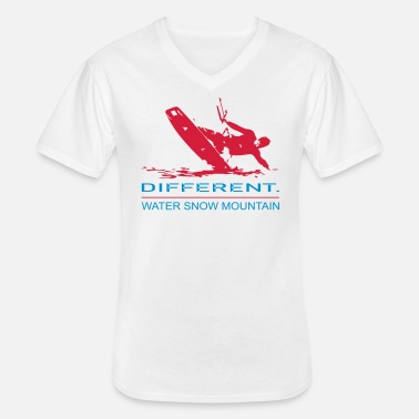 Kiteboard The Kiteboarding Versus One - T-shirt col V Homme