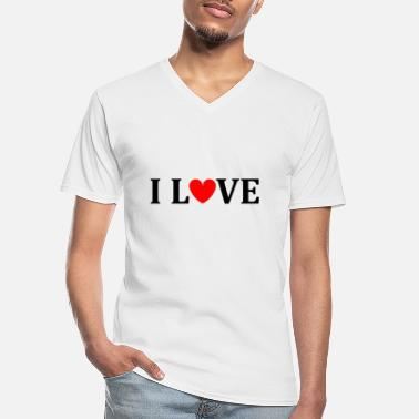 I Love I love - Men's V-Neck T-Shirt