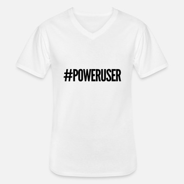 Power User - Men's V-Neck T-Shirt