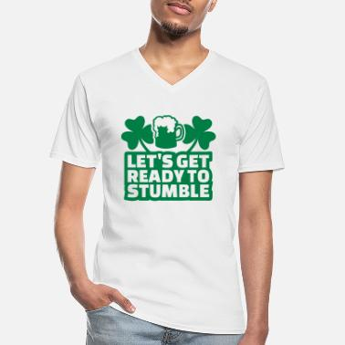 Ready Let's get ready stumble - Klassiek mannen T-shirt met V-hals