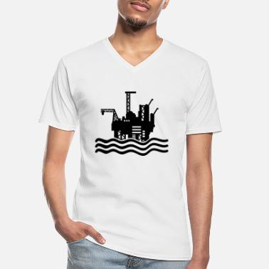 Oil bohrinsel_design_t1 - Men's V-Neck T-Shirt
