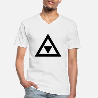 Triangle Triangle in the triangle - Men's V-Neck T-Shirt