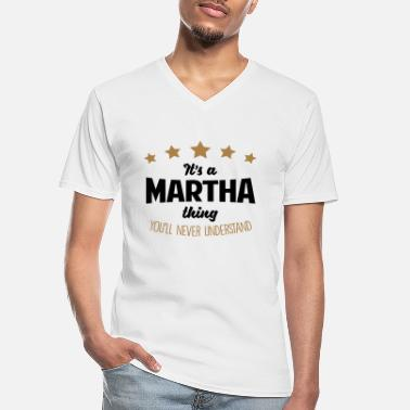 Name It's a martha name thing stars never unde - Men's V-Neck T-Shirt