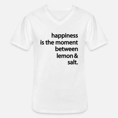 Happiness happiness - Klassisk T-skjorte med V-hals for menn