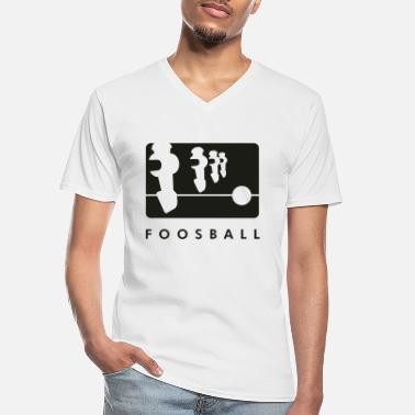 Table Soccer Foosball 4player - Klassiek mannen T-shirt met V-hals