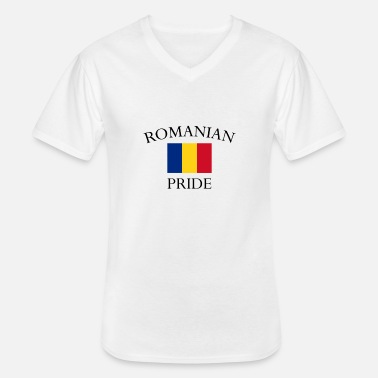 Romanian romanian-pride - Men's V-Neck T-Shirt