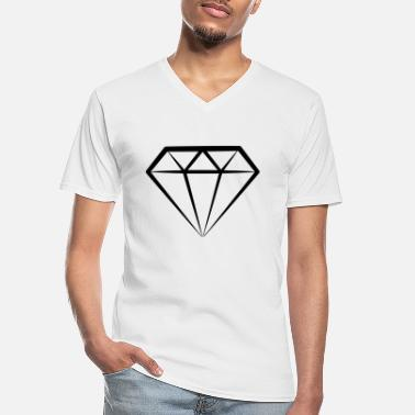 Diamond Supply Diamond - T-shirt col V Homme