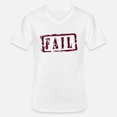 Writing fail writing - Klassiek mannen T-shirt met V-hals