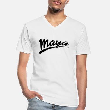 Maya maya | Maya - Men's V-Neck T-Shirt