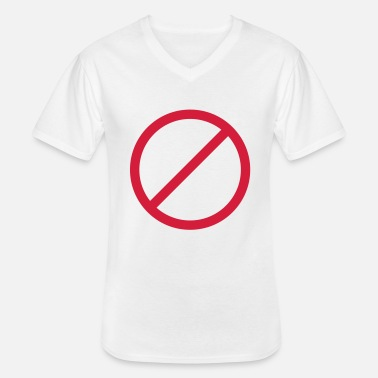 Prohibition Ban prohibited prohibition sign sign - Men's V-Neck T-Shirt
