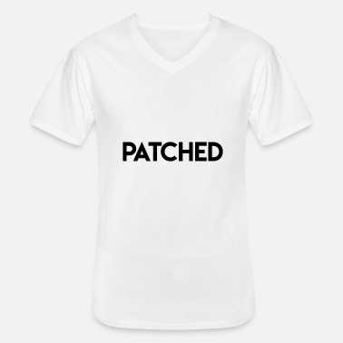 Patches patched - Men's V-Neck T-Shirt